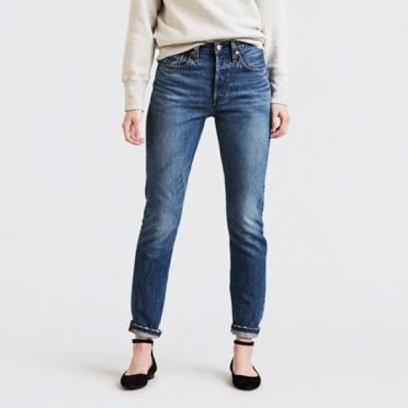Levi's 501 Skinny Jeans in Chill Pill Medium Wash